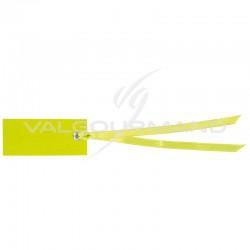 Marque-places rectangle et ruban VERT - 12 pièces