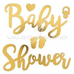 Déco autocollante Baby Shower OR - pièce