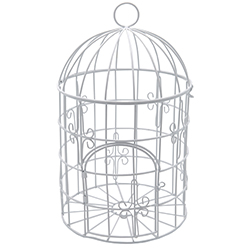 Cage en métal BLANC - pièce