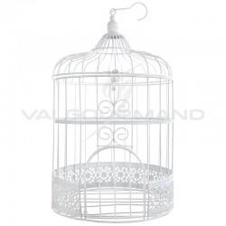 Cage à oiseaux en métal BLANC - pièce