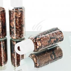 Paillettes en tube CHOCOLAT - pièce