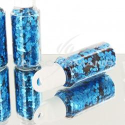 Paillettes en tube TURQUOISE - pièce en stock