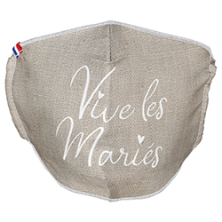 Masque Vive les Mariés (Cat1 normes AFNOR-SPEC6) - pièce en stock