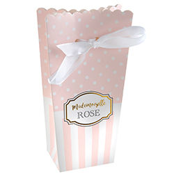 Boîtes cornet Baby Shower ROSE - 6 pièces