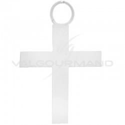 Pendentifs Croix BLANC - 6 pièces