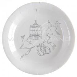 Assiettes Oiseaux du Bonheur - 10 pièces en stock
