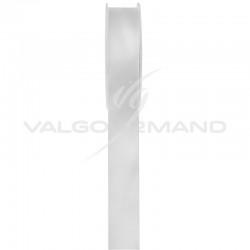 Ruban 15MM en satin double face BLANC - la bobine de 25 mètres