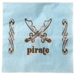 Serviettes de table Pirate - 20 pièces en stock