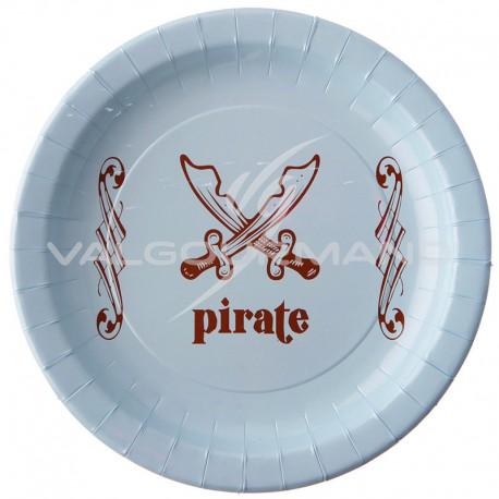Assiettes Pirate - 6 pièces