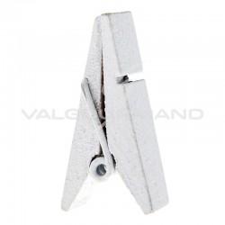 Pinces Pyramide en bois BLANC - 12 pièces