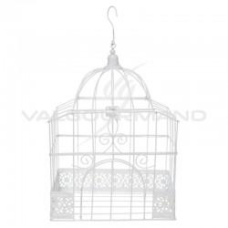 Cage rectangulaire en métal BLANC - pièce