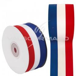 Ruban TRICOLORE drapeau France 15MM - la bobine de 25 mètres
