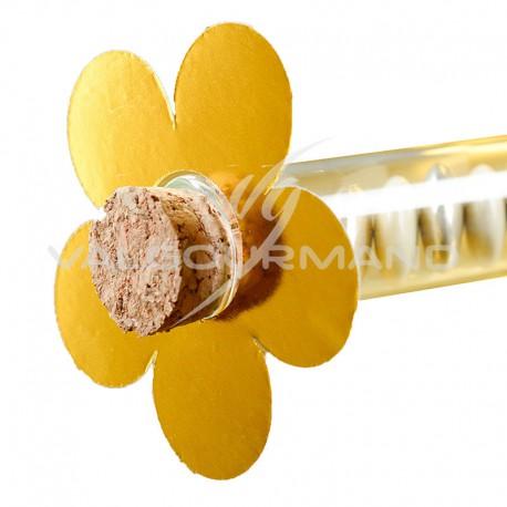 Fleurs déco OR métallisé - 10 pièces