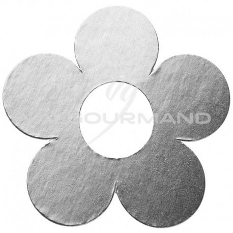 Fleurs déco ARGENT métallisé - 10 pièces