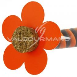 Fleurs déco ORANGE - 10 Pièces