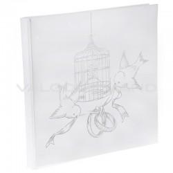 Livre d'or Oiseaux du Bonheur BLANC - pièce