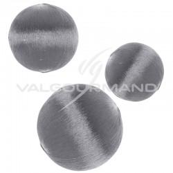 Boules déco scintillantes ARGENT - 10 pièces assorties en stock