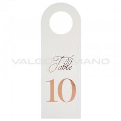 Marque-tables bouteille (n° de 1 à 10 en ROSE GOLD) - 10 pièces