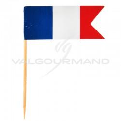 Piques drapeau bleu blanc rouge France - 10 pièces en stock