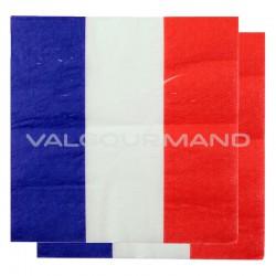 Serviettes de table drapeau bleu blanc rouge France - 20 pièces en stock