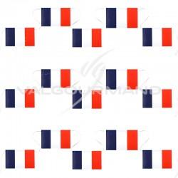 Banderole 15 drapeaux bleu blanc rouge France - pièce