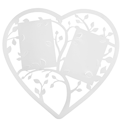 Plan de table Coeur BLANC - pièce en stock