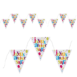 Banderole Joyeux Anniversaire (7 triangles) - pièce