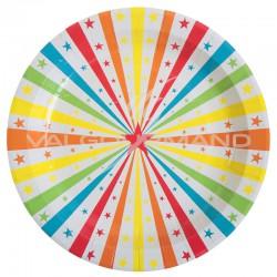 Assiettes thème Cirque - 10 pièces en stock