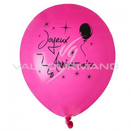Ballons Chic Joyeux Anniversaire - 8 pièces