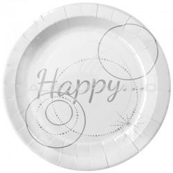 Assiettes Happy - 10 pièces