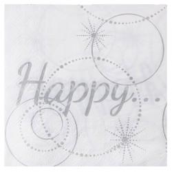 Serviettes de table Happy - 20 pièces