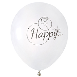 Ballons Happy - 8 pièces