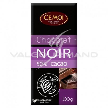 Chocolat noir 50% cacao 100g CEMOI - 30 tablettes