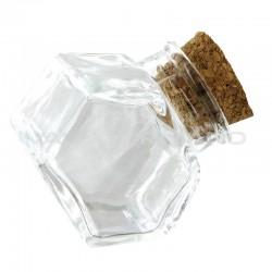 Mini encriers avec bouchon en liège - 12 pièces