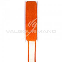 Ruban Cristal ORANGE - la bobine de 25 mètres