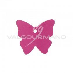 Etiquettes papillon FUCHSIA - 4 vignettes en stock