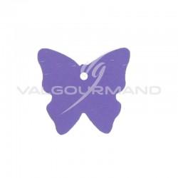 Etiquettes papillon VIOLET - 4 vignettes