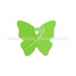 Etiquettes papillon VERT - 4 vignettes en stock