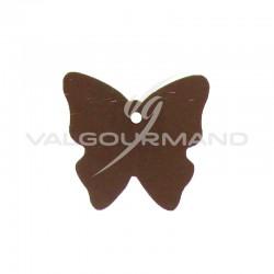Etiquettes papillon CHOCOLAT - 4 vignettes