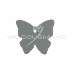 Etiquettes papillon GRIS - 4 vignettes en stock