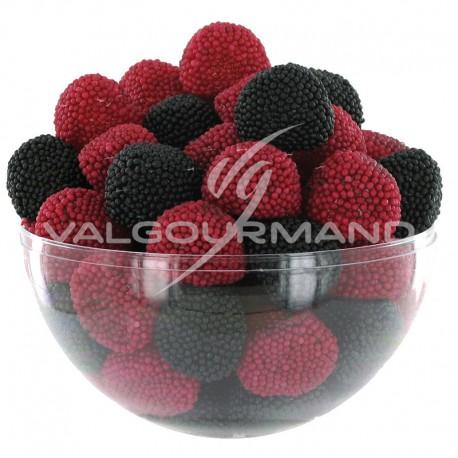 Mûres et framboises perlées (rouges et noires) - 1kg