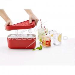 Bac à glaçons avec réserve Ice Box Lékué ROUGE en stock