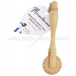Rouleau coupe pâte 11.5cm Mirontaine en BUIS en stock