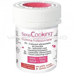 Colorant alimentaire en poudre 5g Scrapcooking ROSE