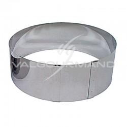 Cercle à tarte/entremet extensible H. 9cm Lares ACIER INOXYDABLE en stock