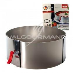 Cercle à tarte/entremet extensible H. 7cm Lares ACIER INOXYDABLE en stock