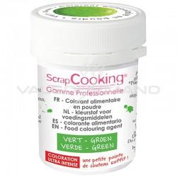 Colorant alimentaire en poudre 5g Scrapcooking VERT en stock