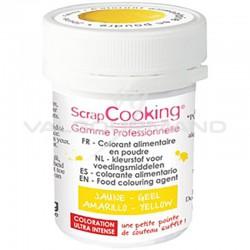 Colorant alimentaire en poudre 5g Scrapcooking JAUNE en stock