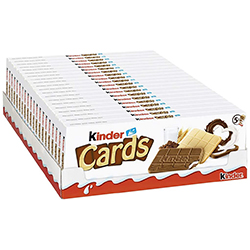 Kinder Cards T5 - 128g - carton de 20 paquets en stock