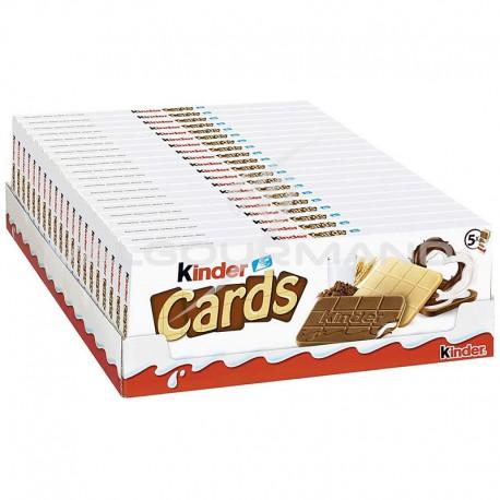 Kinder Cards T5 - 128g - carton de 20 paquets